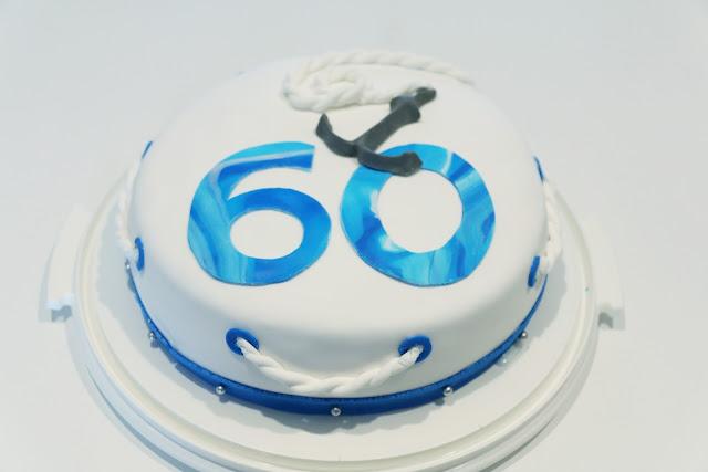 60-vuotiskakku, syntymäpäiväkakku, synttärikakku, kakku