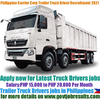 Philippine Span Asia Carrier Corp Trailer Truck Driver Recruitment 2021-22