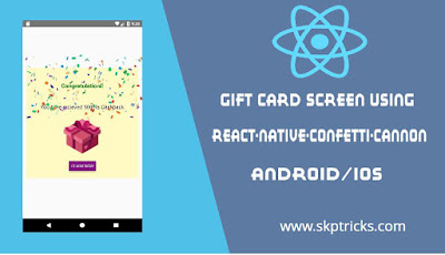 Gift Card Screen using react-native-confetti-cannon