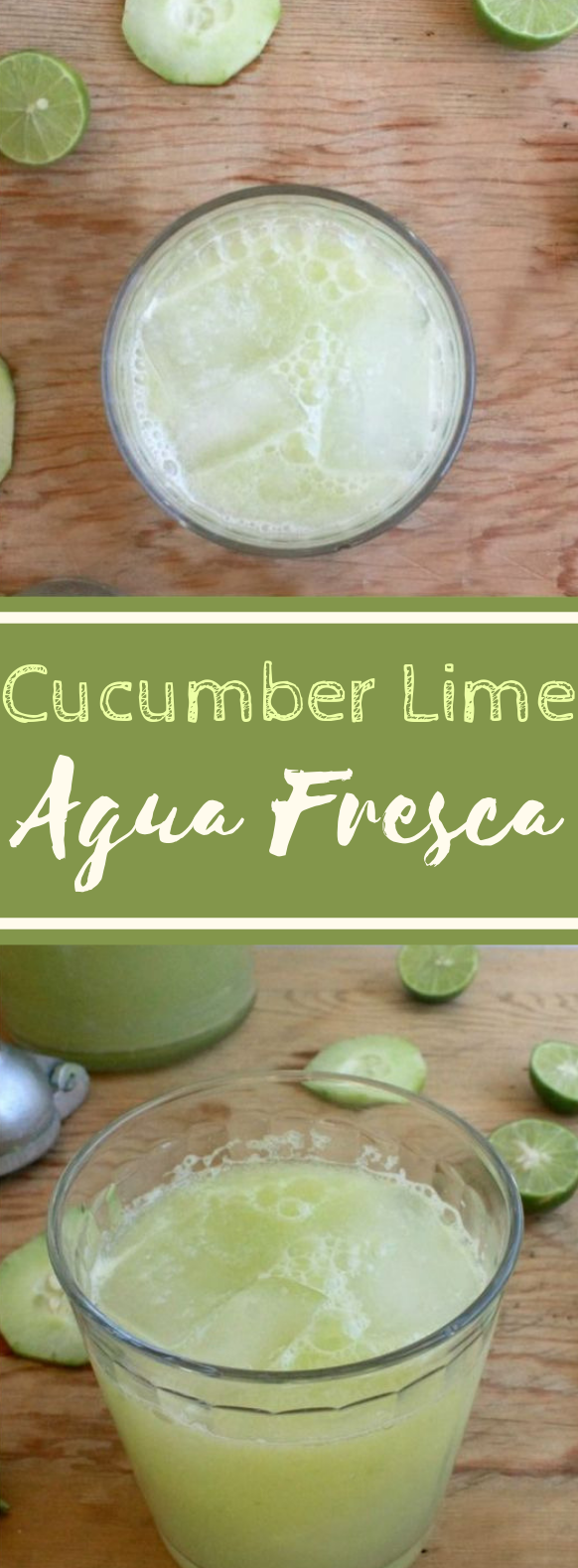 Cucumber Lime Agua Fresca #summer #drinks