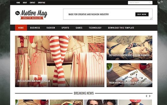 Motive Mag Blogger Template