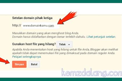 Tutorial Cara Memasang Domain ke Blogger Blogspot