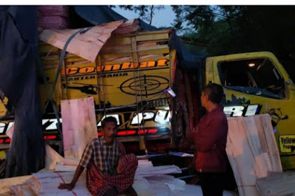 Nyalip Tak Sampai Bus Sugeng Rahayu Ringsek Hantam Truk Di Ngawi