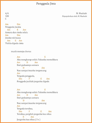chord penggoda jiwa dangdut m. mashabi