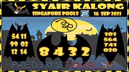 Syair Kalong Togel Singapura Kamis 16-09-2021