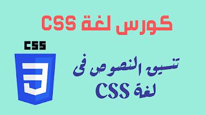 تنسيق النصوص فى CSS