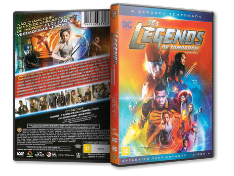 Capa DVD DC's Legends of Tomorrow - Segunda Temporada - Disco 4