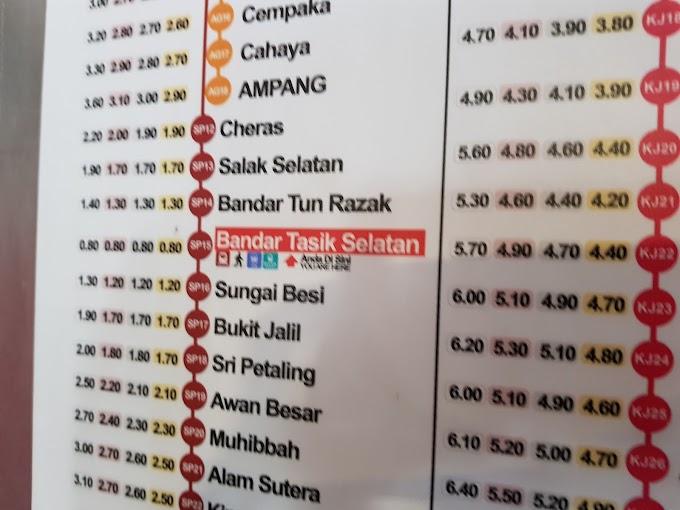 Kinh nghiệm đi tàu điện ở Kuala Lumpur, chặng TBS về Bukit Bintang