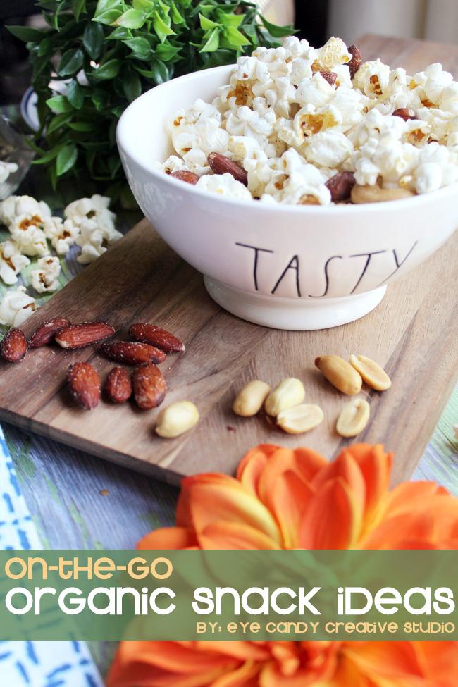 snacks, fall snack ideas, simple truth, honest tea, popcorn, peanuts