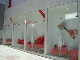 foto de vitrine para loja varios modelos