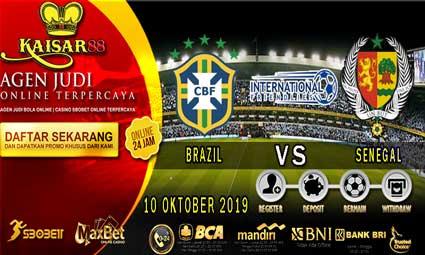PREDIKSI BOLA TERPERCAYA BRAZIL VS SENEGAL 10 OKTOBER 2019