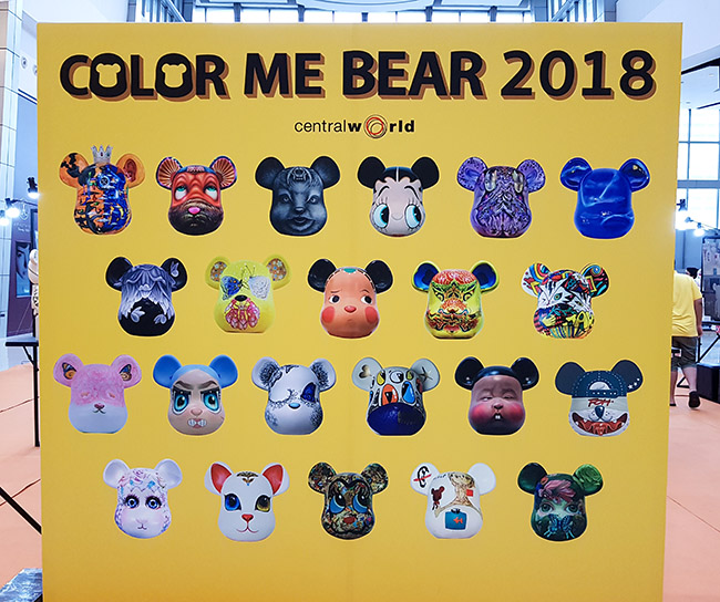 Color Me Bear 2018 designer Be@rBrick toy group show Thailand