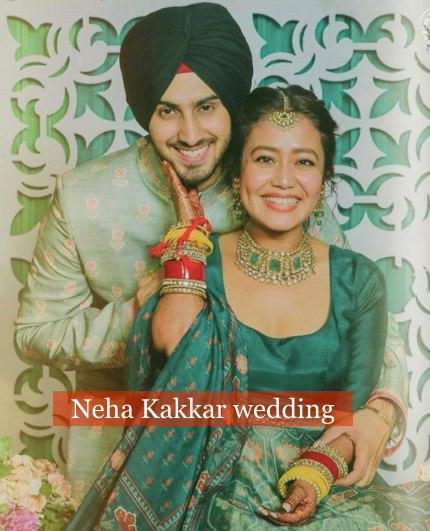 Neha Kakkar wedding: Rohanpreet kisses Neha Kakkar at a music ceremony