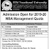 ITM Vocational University Vadodara Admission Open For 2019-20 MBA Management Quota