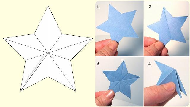 estrela de papel, estrela 3D