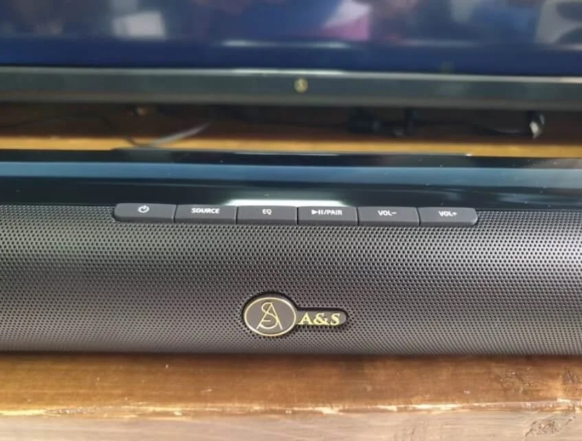 A&S 2.1 Soundbar with Wireless Subwoofer 300 Controls
