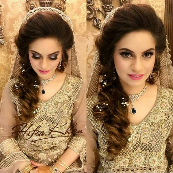 Wedding Hairstyle Pakistani: Stylish And Trendy Pakistani Bridal Wedding Hairstyles For
