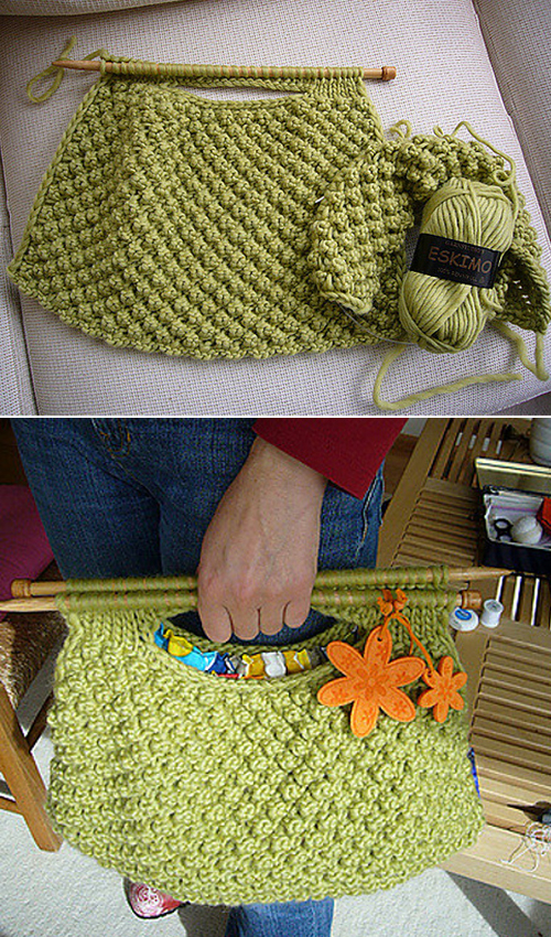 Knitting Needle Knitting Bag - Free Knitting Pattern