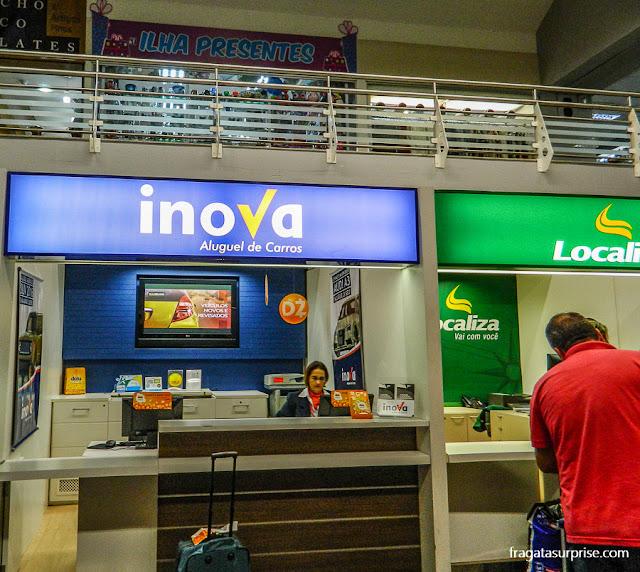 Aluguel de carro em Florianópolis, locadora Inova, Aeroporto Hercílio Luz