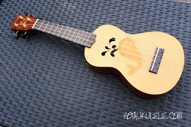 kahuna laser etched soprano ukulele
