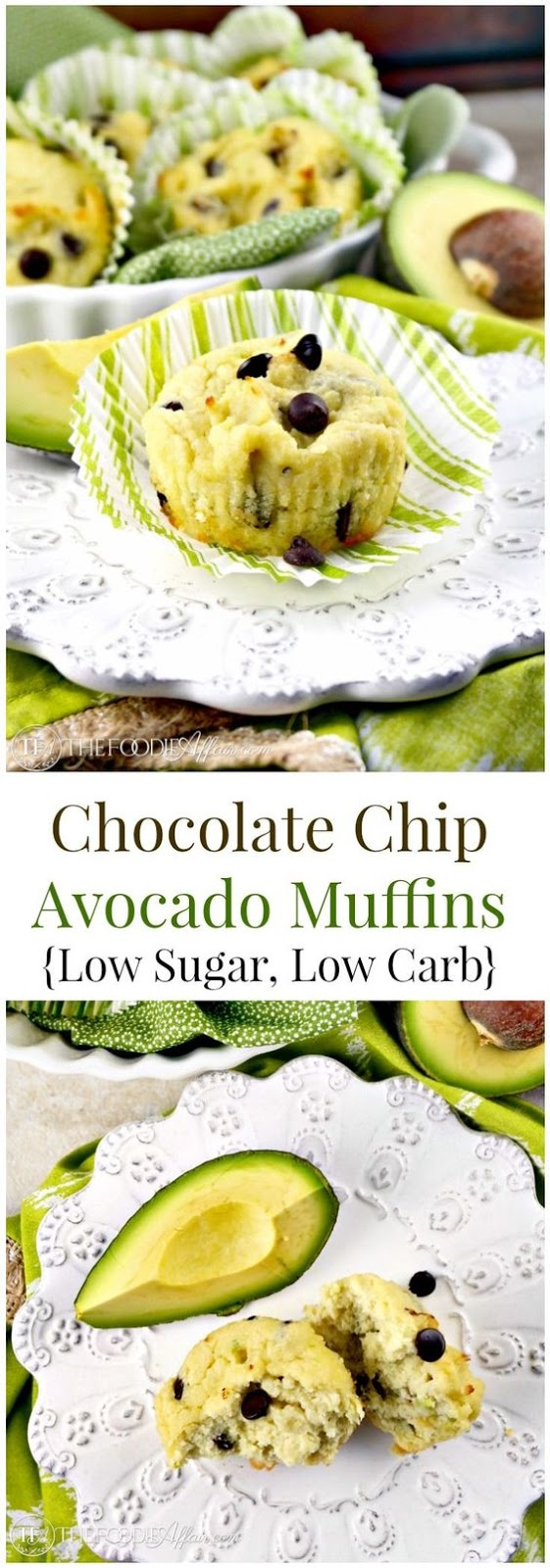 CHOCOLATE CHIP AVOCADO MUFFINS