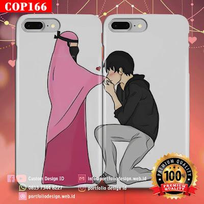 Desain sendiri casing couple muslim terbaru free COP166
