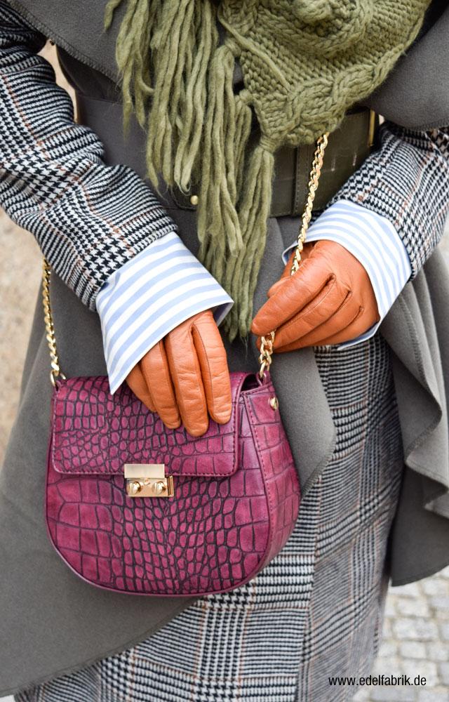 Bordauxfarbene Handtasche im Chloe Drew Style