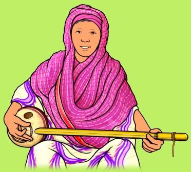 gurmi ナイジェリア ハウサ族の弦楽器 グルミ