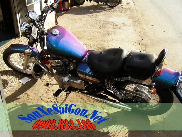 Sơn đổi màu góc nhìn cho xe máy
