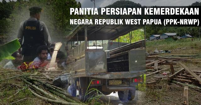 Panggung Deklarasi PPK-NRWP Dibongkar oleh Tentara dan Polisi Indonesia