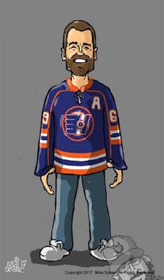 Goon character hockey Doug Glatt Caricature