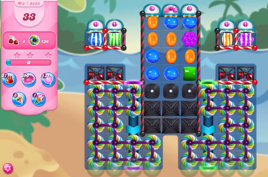 Candy Crush Saga level 9288