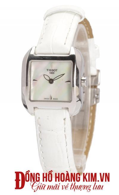 bán đồng hồ nữ dây da trắng