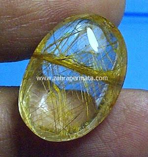 Batu Permata Kecubung Rambut Emas - ZP 457