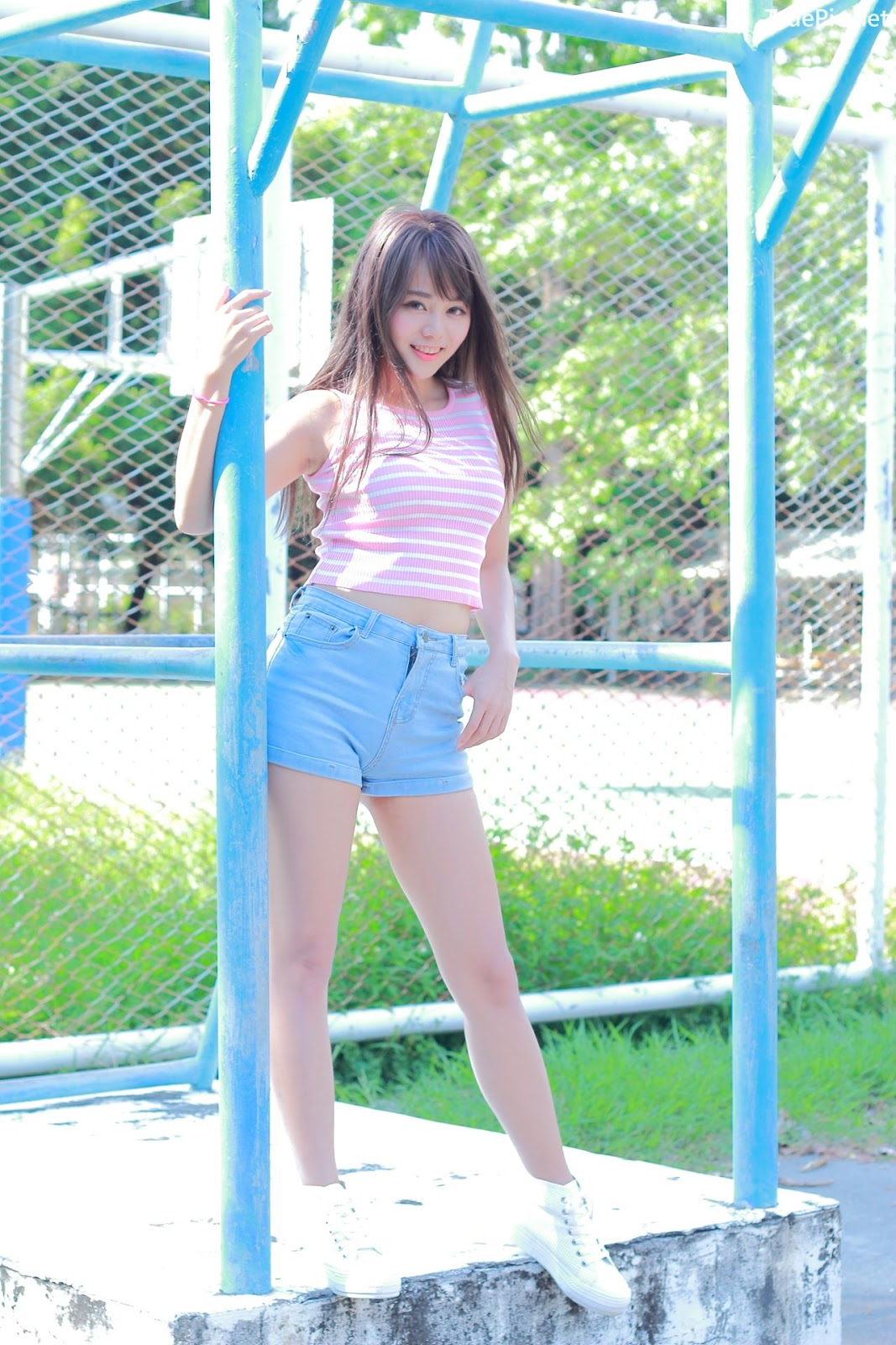 Image Taiwanese Model - Sun Hui Tong (孫卉彤) - A Day At Oil Refinery Elementary School - TruePic.net- Picture-10