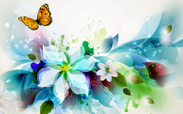 Colorful Butterfly Design Background Desktop Abstract Hd Wallpapers