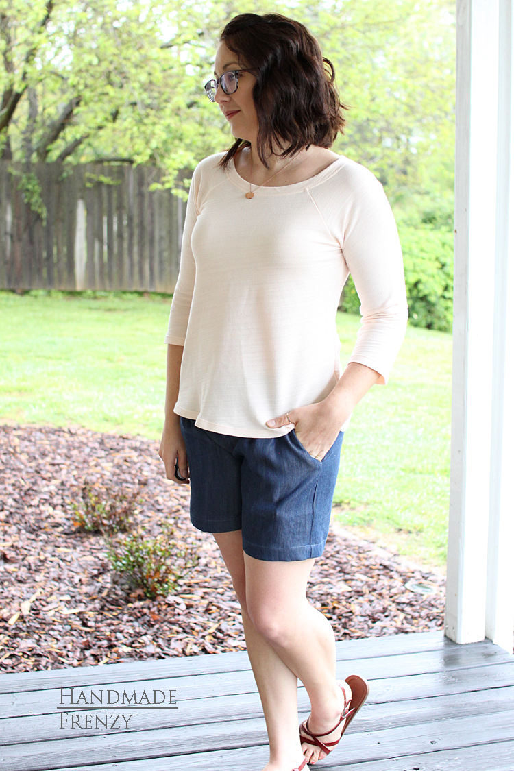 Back To Basics // Sewing For Women // Hey June Lane Raglan // Emerson Shorts