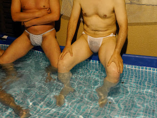 Zakoza Bulge Bar pool with fundoshi-wearers.