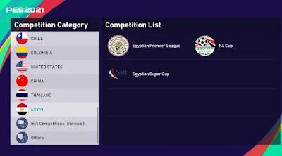 Egyptian league pes21 sp21