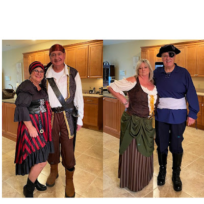 People in pirate costumes