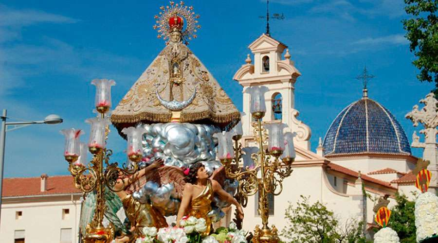Imagen de la Mare de Déu de Lledó junto a su basílica / DIÓCESIS DE SEGORBE-CASTELLÓN