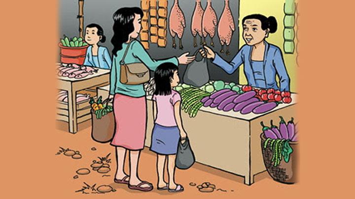 cerita bahasa arab tentang pasar