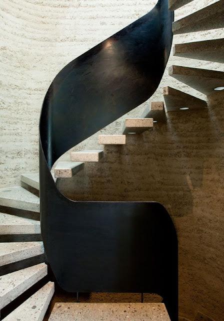 modern round staircase design