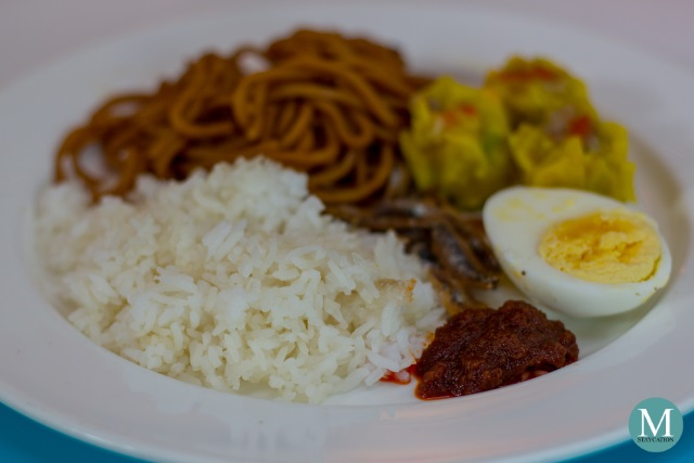 nasi lemak for breakfast at shangri-la singapore