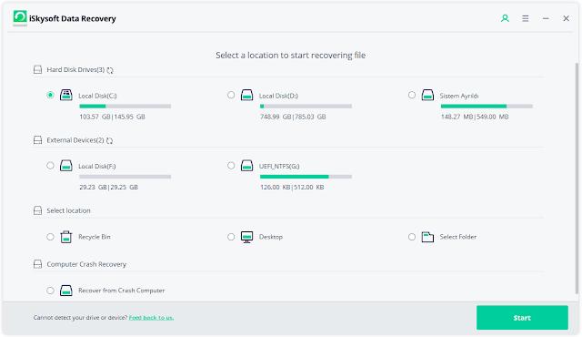 Screenshot iSkysoft Data Recovery 5.0.1.3 Full Version