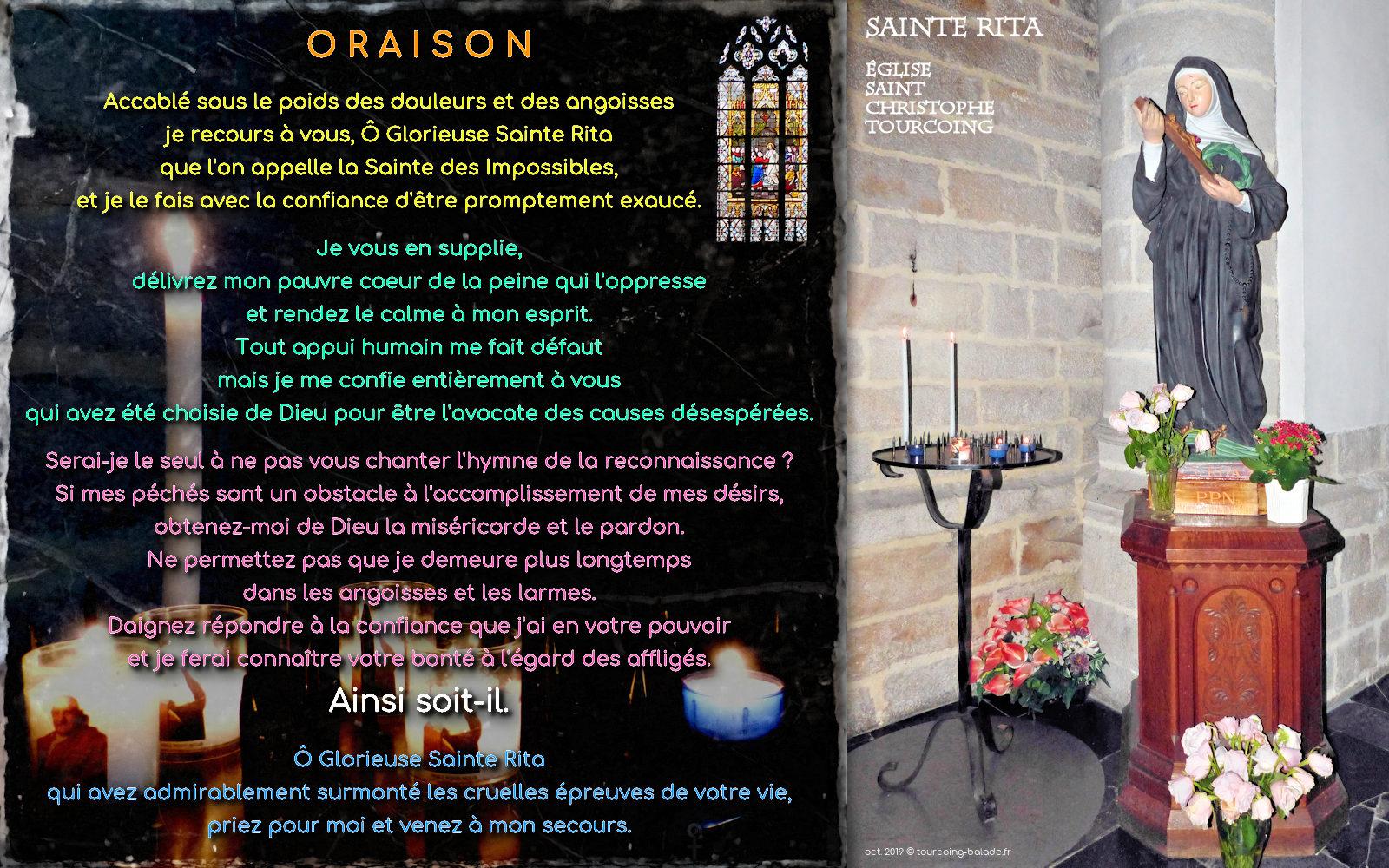 Oraison Sainte Rita