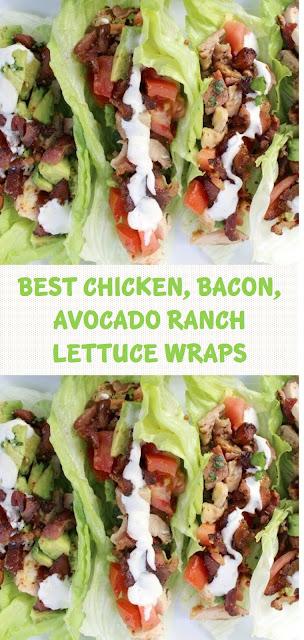 BEST CHICKEN, BACON, AVOCADO RANCH LETTUCE WRAPS
