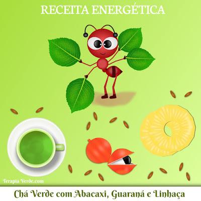 Receita Energética: Chá Verde com Abacaxi, Guaraná e Linhaça