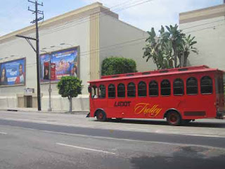 LADot Trolly Passes Paramount Studios In Los Angeles.