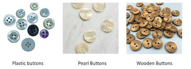 different types of buttons for coats